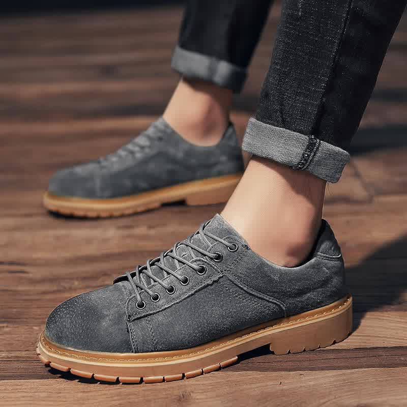 Autumn winter fashion men's shoes casual pigskin leather male sneakers