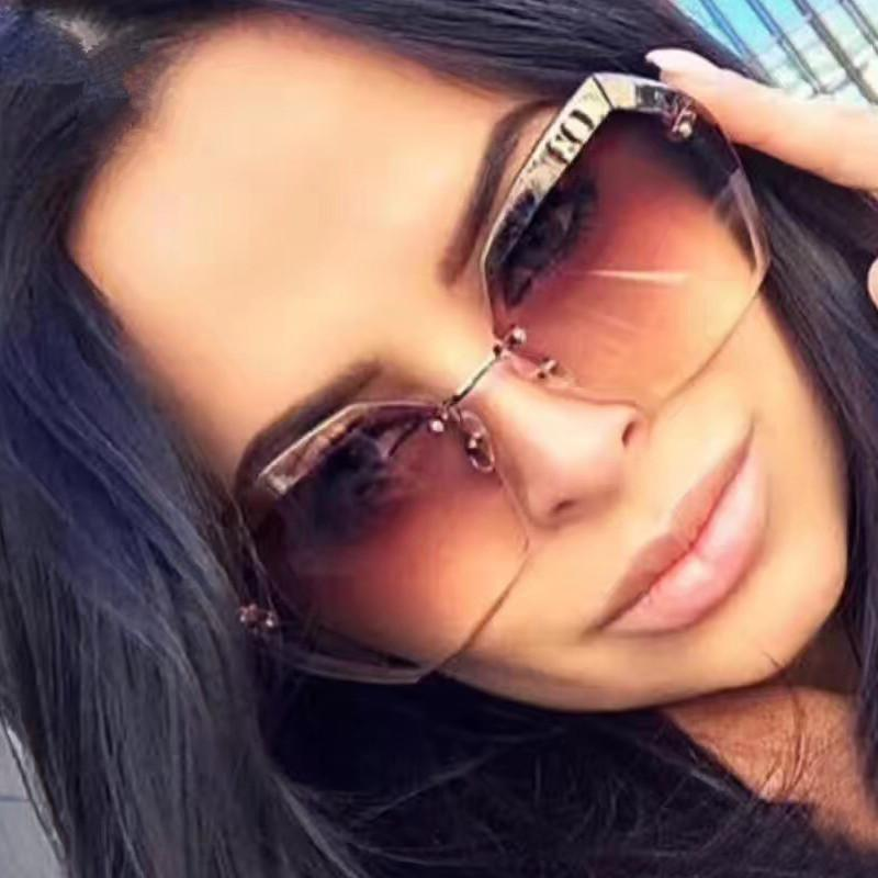 Rimless Sunglasses For Women Sun ...