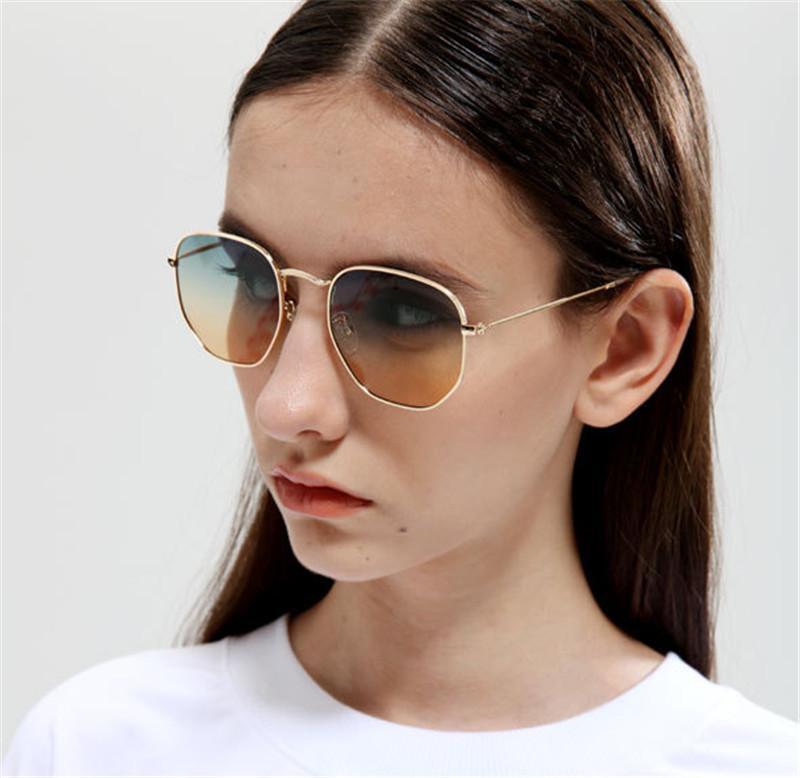 Women New Vintage Metal Sunglasses ...