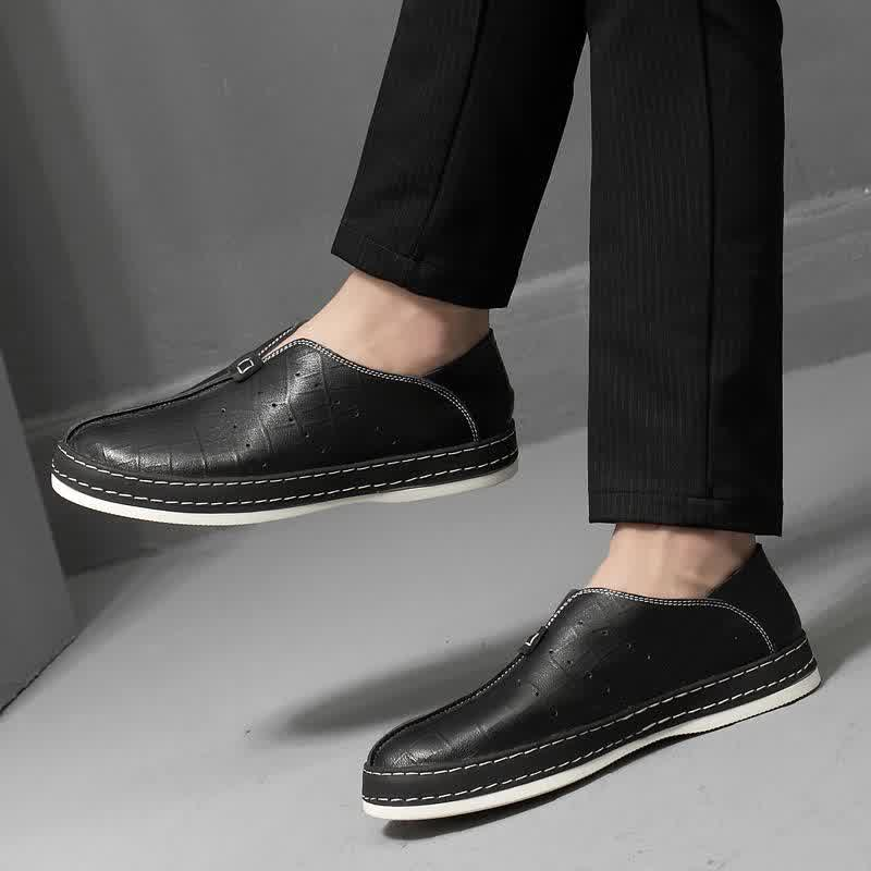 Fashion men's casual genuine leather shoes