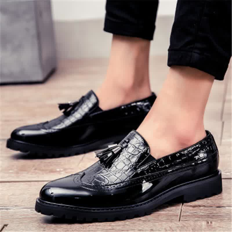 Men's  Leather Vintage Business Oxfords Flat Soft Bottom Male Footwear