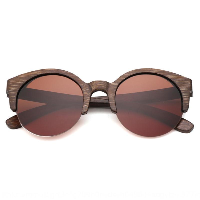 G6MkR New bamboo and wood sun fashion men and women polarized sun glasses  half-frame sunglasses