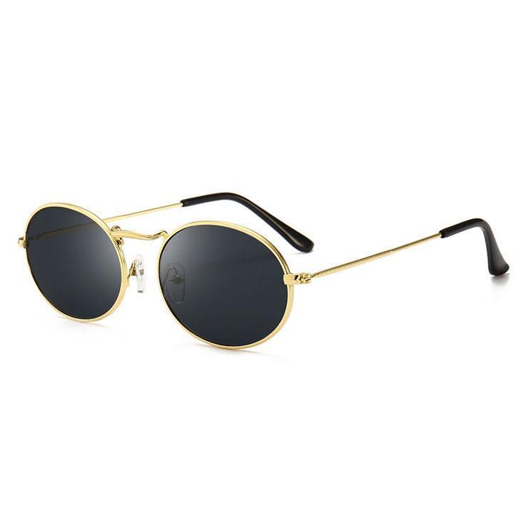 top quality Women's men's optical Round metal Sunglasses Men and Women fashion Glasses Brand retro vintage Sunglasses UV400