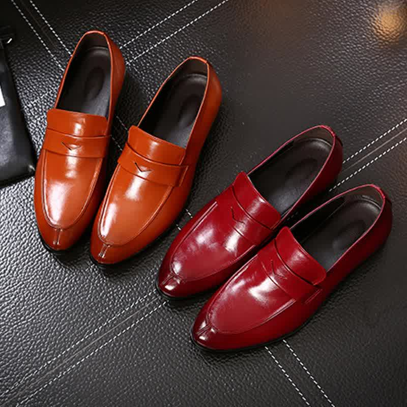 New Leather Men'S Loafers Shoes