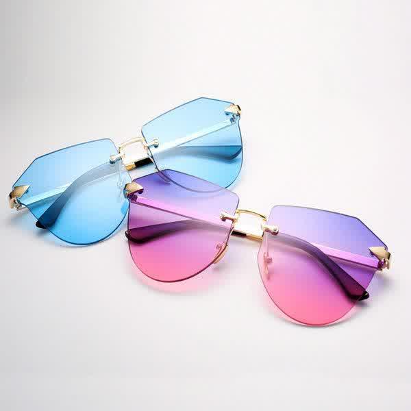 Arrow Frameless gold Sunglasses Frameless Polygon ...