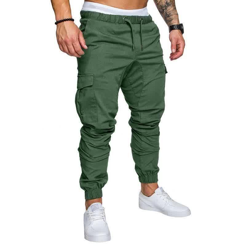 New Fashion Men's Pants Slim Solid Color Elasticity Men Casual Pants