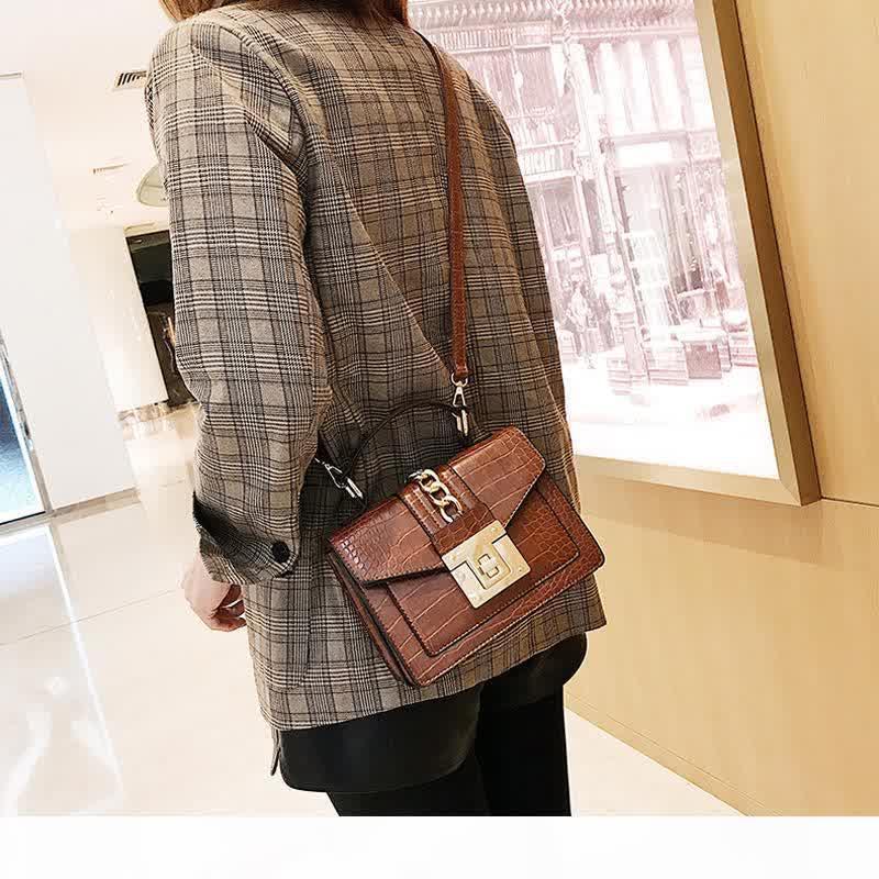 New Alligator Shoulder Bags Women Chain Handbags Luxury Pu Leatehr Crossbody Bag