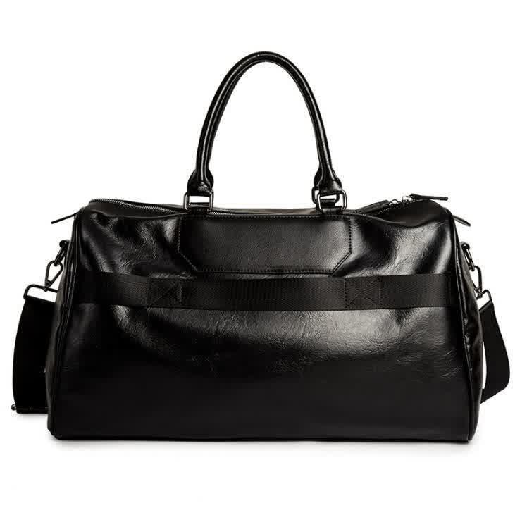 Men handbag large capacity travel bags fashion striped leather business handbags