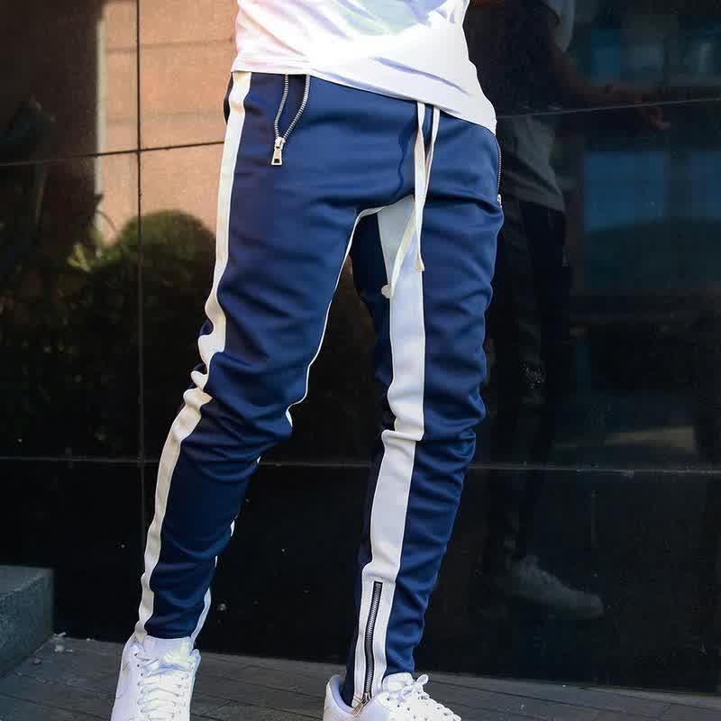 New Men Jogger Pants Casual Zipper Sports