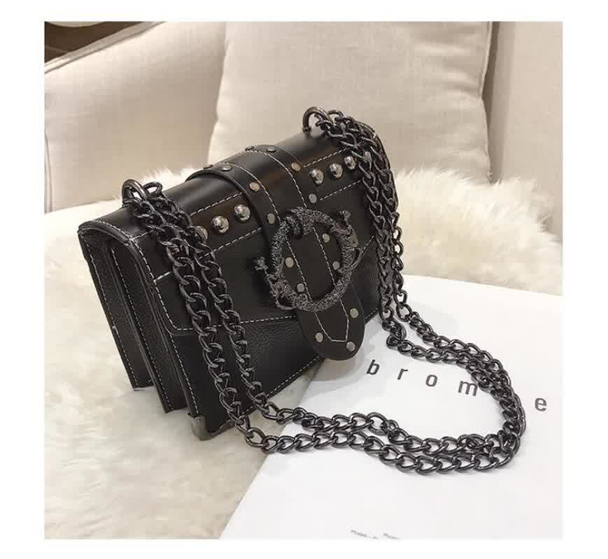 Fashion Female Square Bag  New Quality PU Leather Women's Designer Handbag