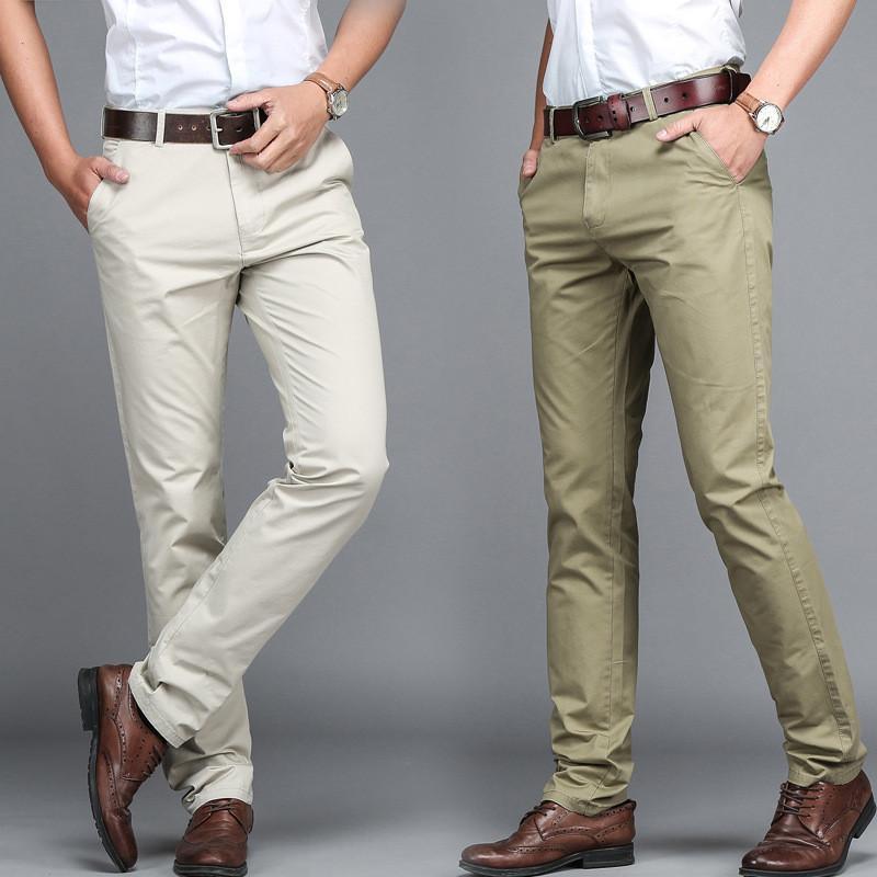Men's Pants High Quality Suit Trosuer Men Dress Men Business Trousers Office Casual Social
