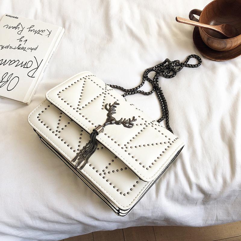 Vintage Rivet bag Fashion New High Quality PU Leather Women's Handbag