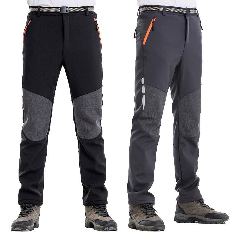 Men's Winter Hiking Pants Men Warm Polar Fleece Sports Trousers