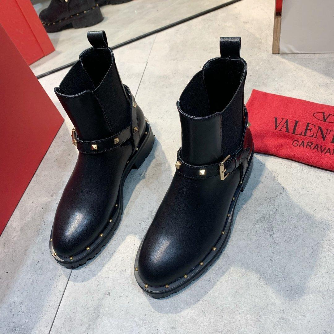 Autumn And Winter High -End Leather Trend Thick With Ankle Boots