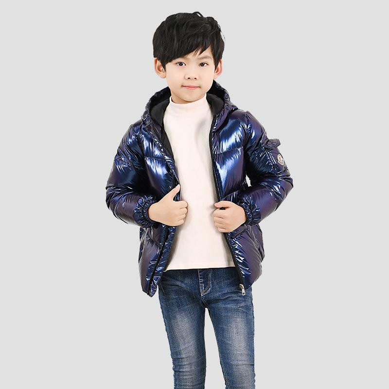 Boys Girls Puffer  Down Coats for   Hooded Bubble  Metallic Light-Weight Outwear Clothes