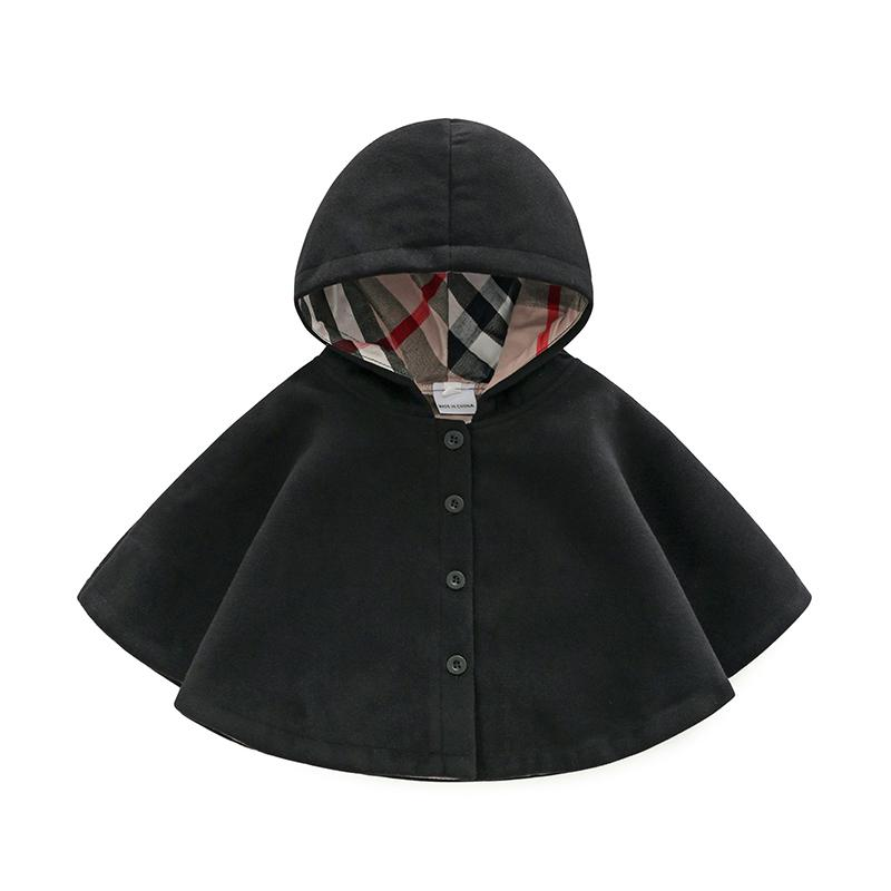 Clothes girls Autumn  girl Clothes Neonatal Wool Windbreak Cloak  Thickened Warm Cloak  Outwear cape