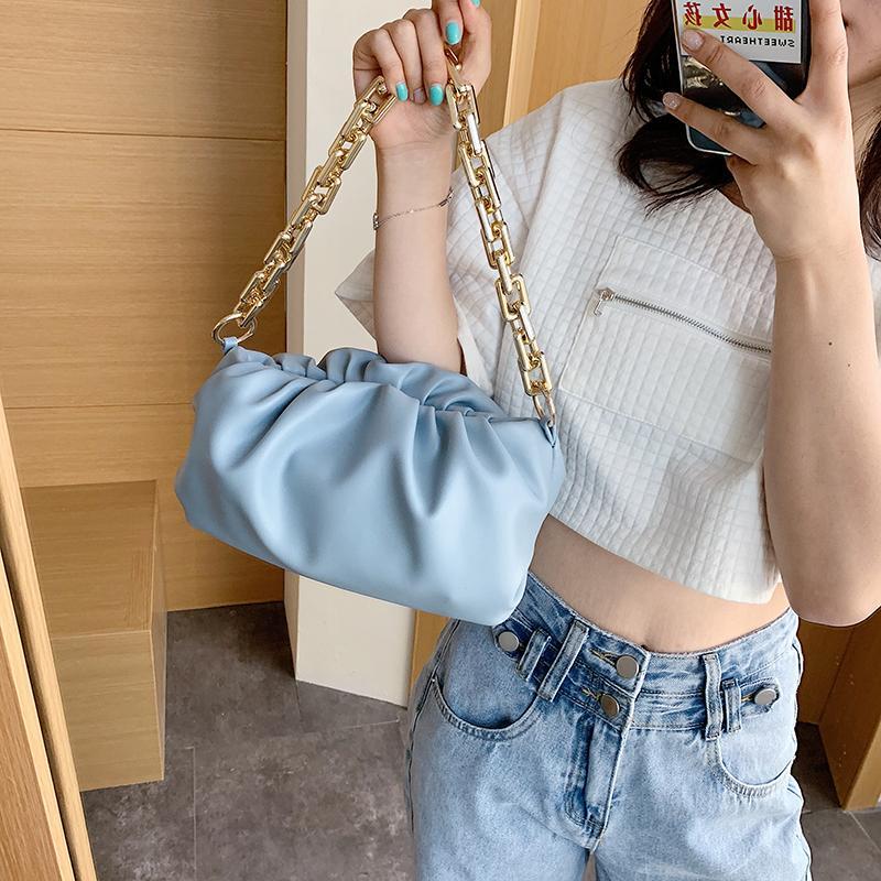 Cloud bag Soft Leather Single Shoulder Women Crossbody Bag