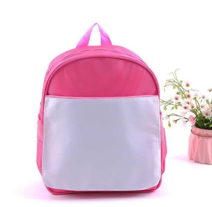 New Arrival Fashion Sublimation DIY Blank Children Kids Schoolbag Kindergarten Book Bag Hot Transfer Printing