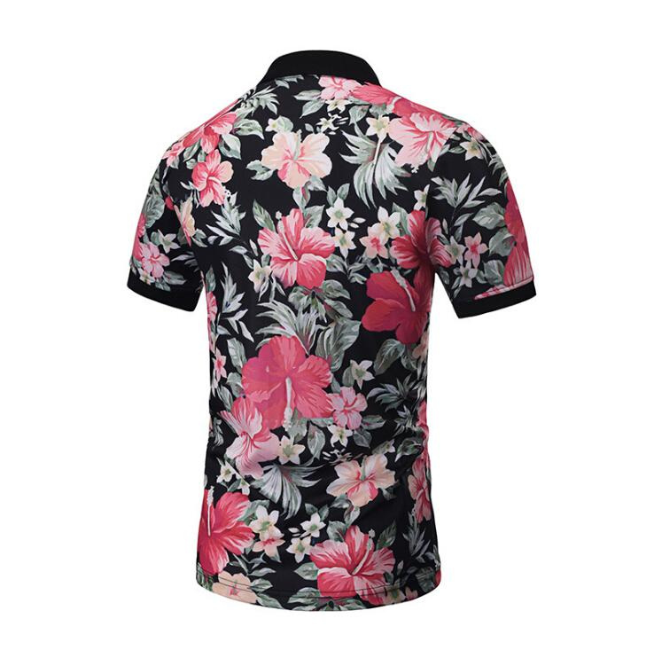 Floral Printed Summer Shirt Hawaii Vocation Fashion Shirts Man's New Style Casual