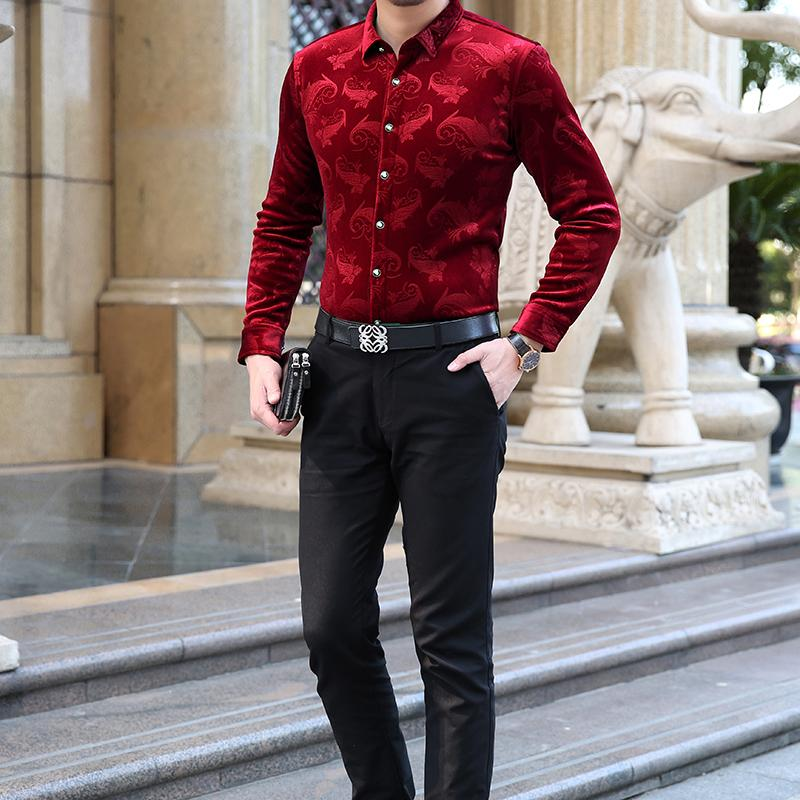 Mens Long Sleeve Dress Shirts Spring Autumn New Fashion High Quality Shirt Slim Fit Business Shirts Fashion Male Tops