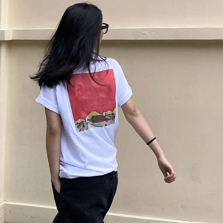 new T shirt ladies short-sleeved cotton print fashion men and women mens womens t shirt couple clothing outerwear