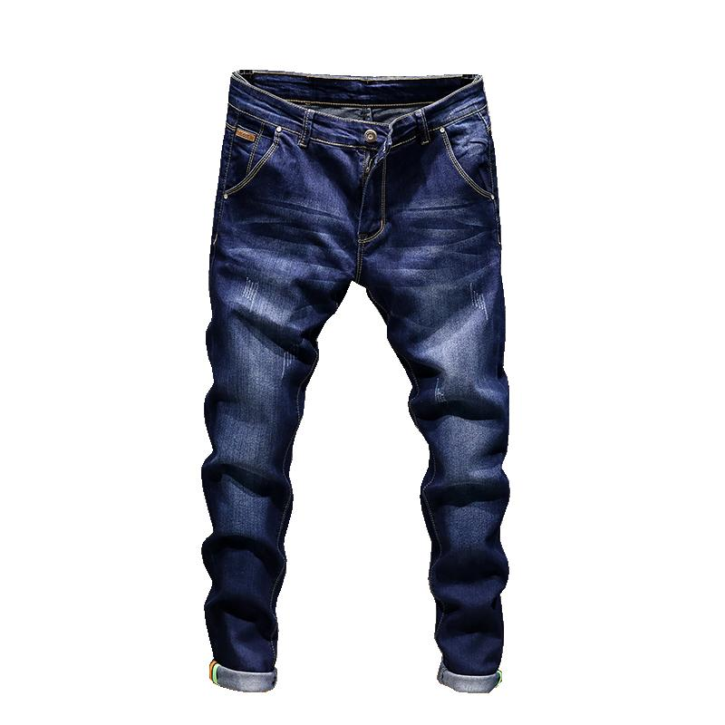 Fashion Skinny Jeans Men Straight slim elastic jeans Mens Casual Biker Male Stretch Denim Trouser Classic Pants