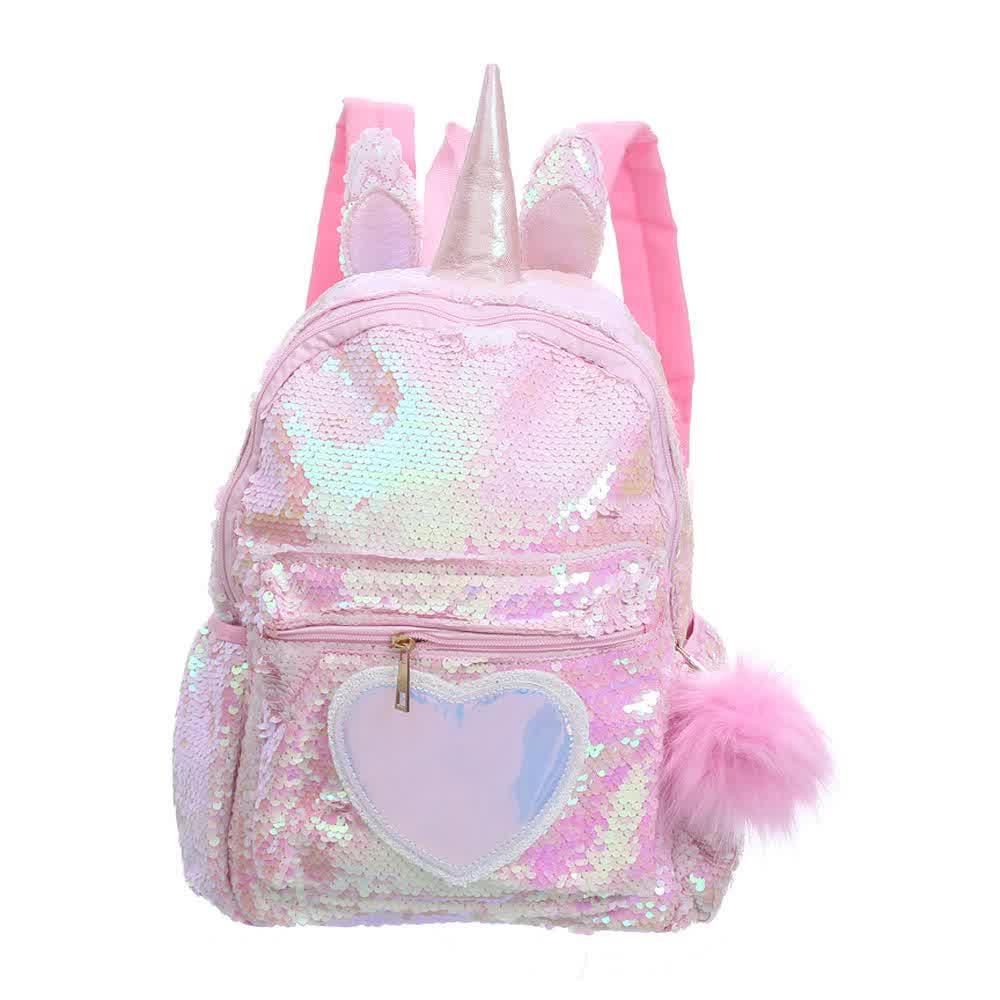 Unicorn Sequins Backpack Girls School Bags Kids Bagpack Mini Backpack Women schoolbags