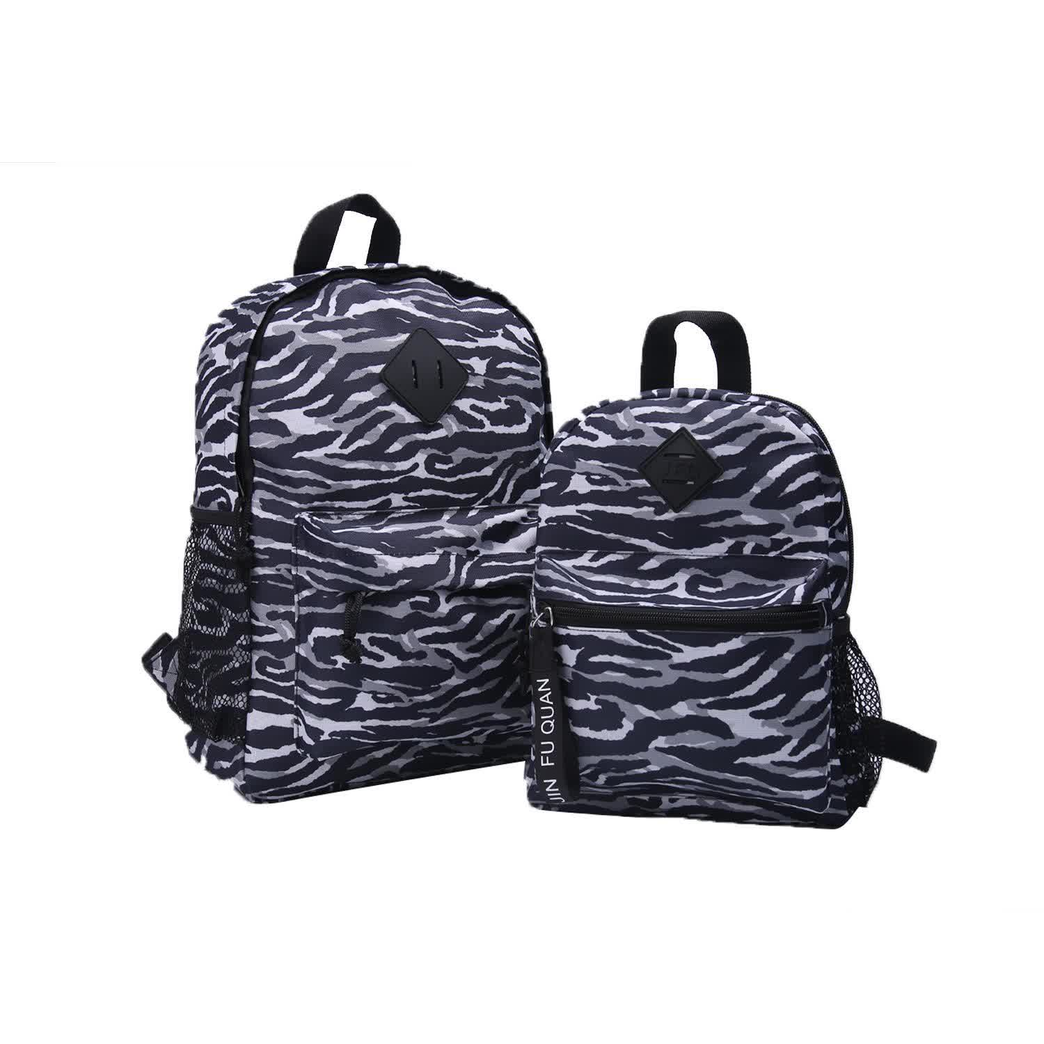 Parent child black and white camouflage light and soft for adult students