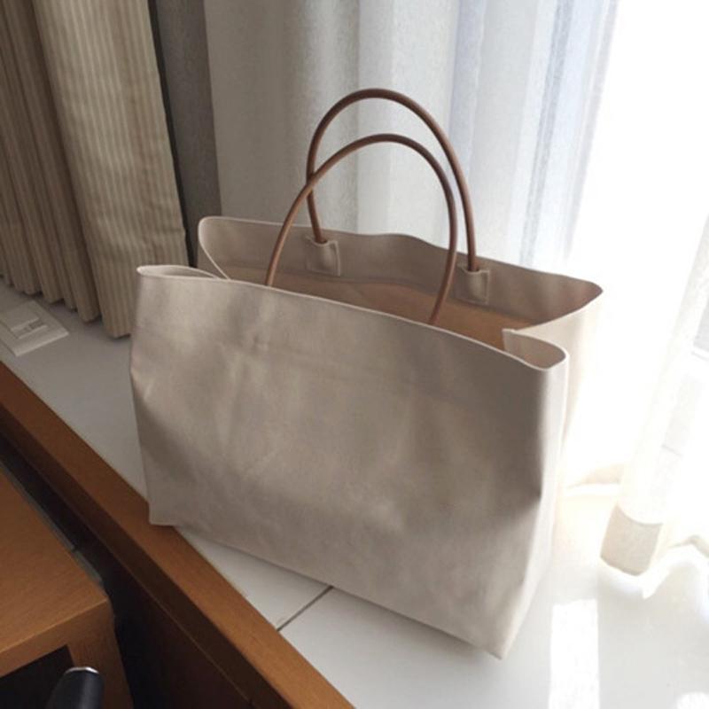 Large Shopping Bag Summer White Casual Totes Jumbo Canvas Totes Beach Bag