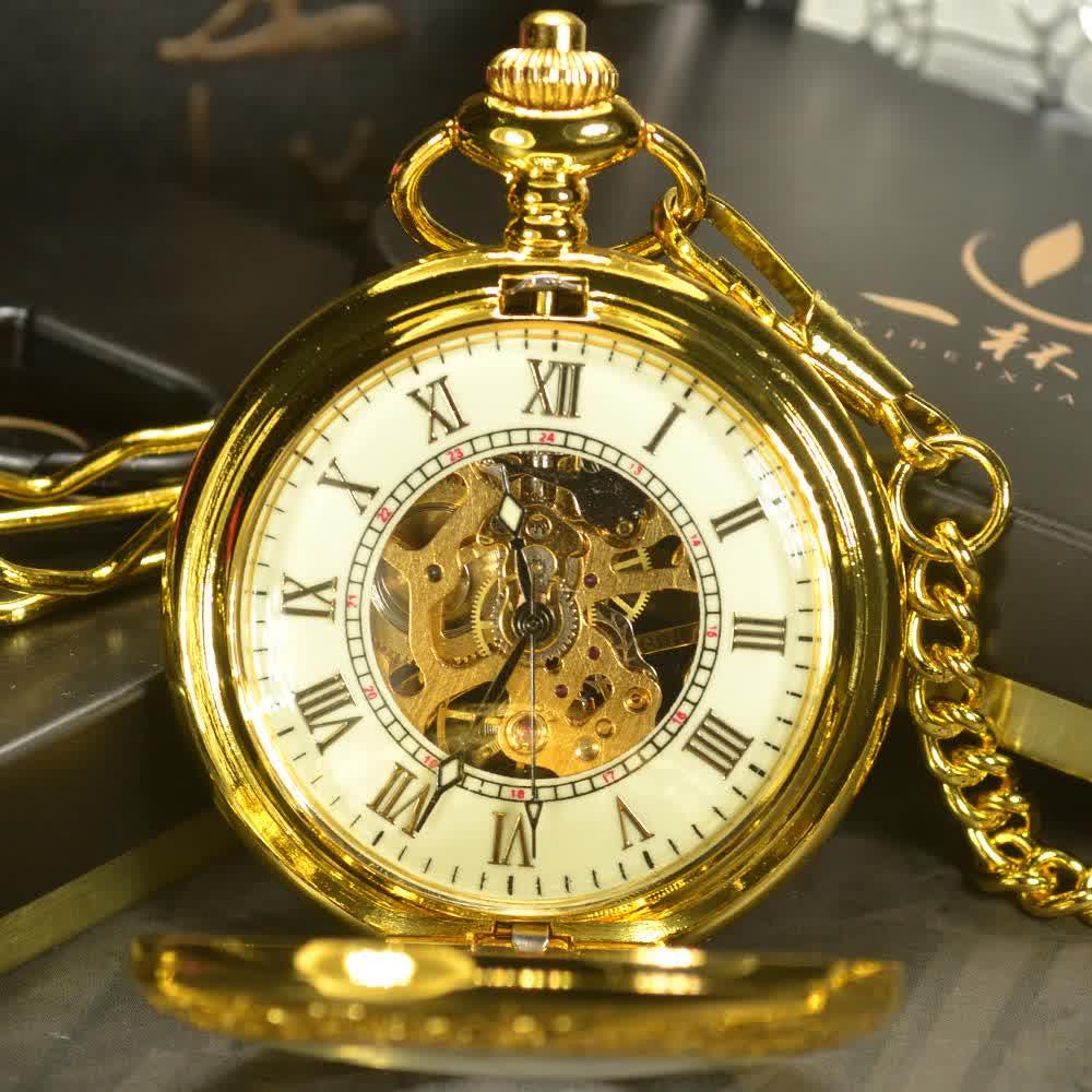 Skeleton Mechanical Pocket Watches Men ...