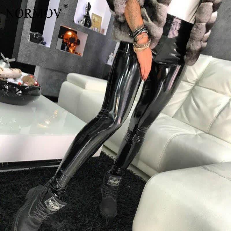 Leather Black Pants Leggings High Waist Women Sexy Elastic Skinny Push Up Leggings Stretch Jeggings Women Legins