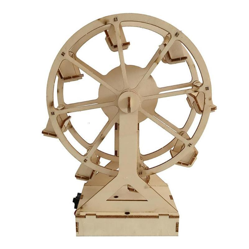 Electric Craft Ferris Wheel Puzzle Game Wooden Model Building