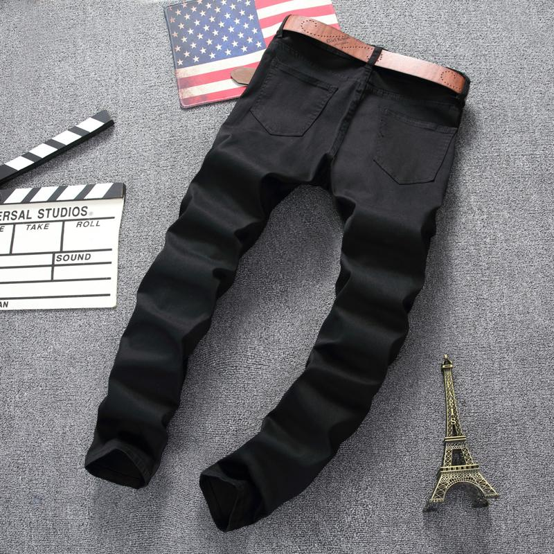 Mens  Skinny Ripped Destroyed Stretch Slim Jeans
