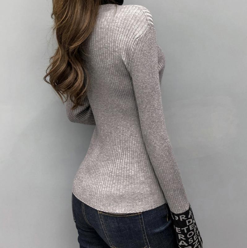Tight Basic Sweater Women Thin Long Sleeved Women ...