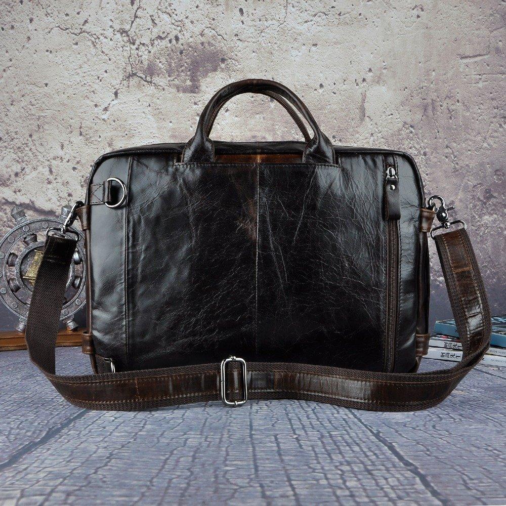 Genuine Leather Man Multifunction Purpose Maletas Maletin Business Briefcase 15 Laptop Bag Tote Portfolio Bag