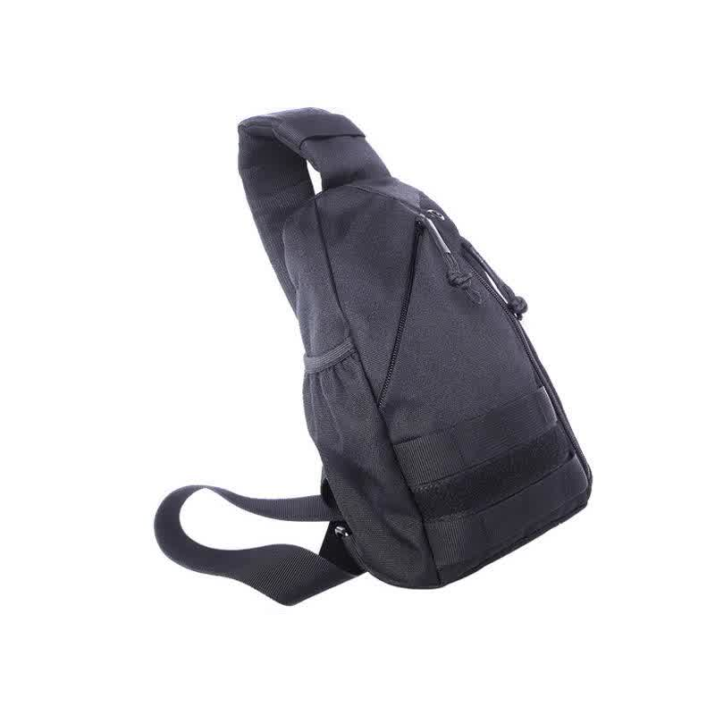 Waterproof durable nylon chest bag outdoor single shoulder crossbody small bag with USB charging
