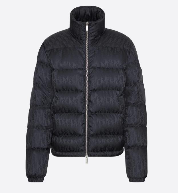 Men Oblique Down Jacket Designer Male Puffy Side Pocket Winter Jacket Fashion Boy Double Zip Stand-Up Collar Outwear