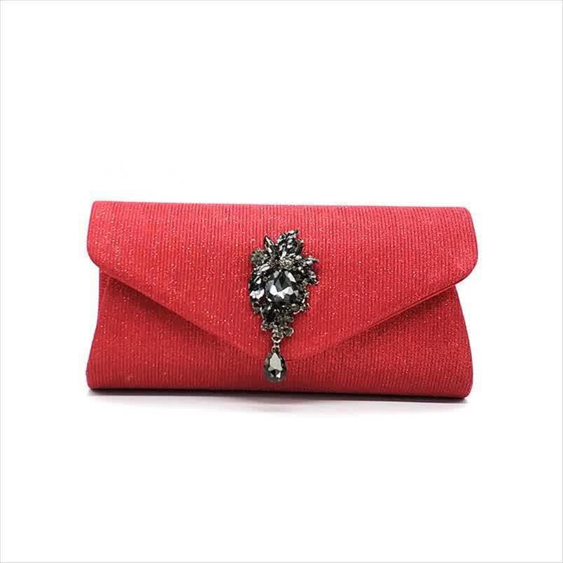 Elegant rhinestone women evening party shoulder bag fashion clutches cross body solid bag