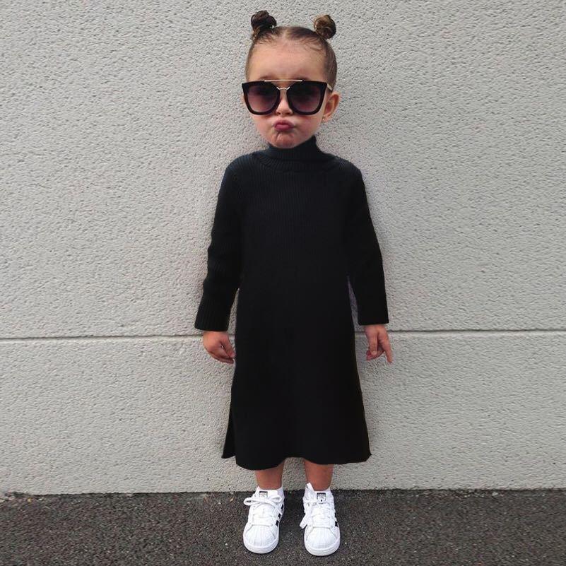 AiLe Rabbit Winter Fashion INS Pop Girls Dress Open Long Section Sweater Dress Children Knitted Parent-child Equipment Fall
