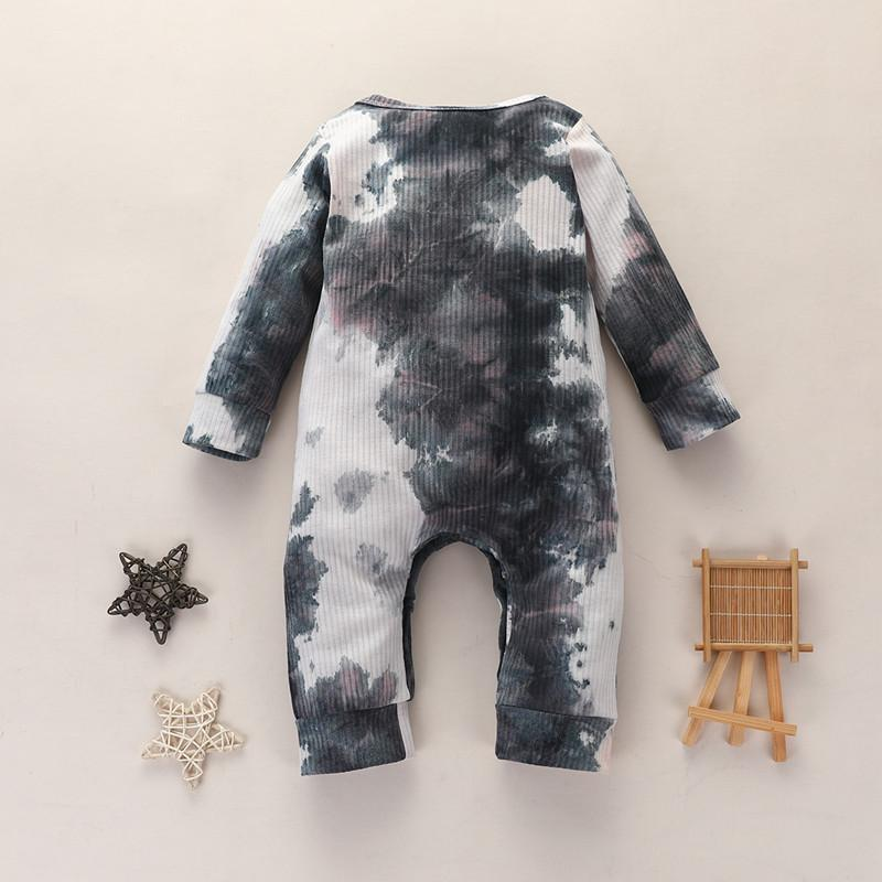 Baby Boys Girls Born Jumpsuits Tie-dyed Clothing Long Sleeve Autumn Romper New Fashion Designer Clothes
