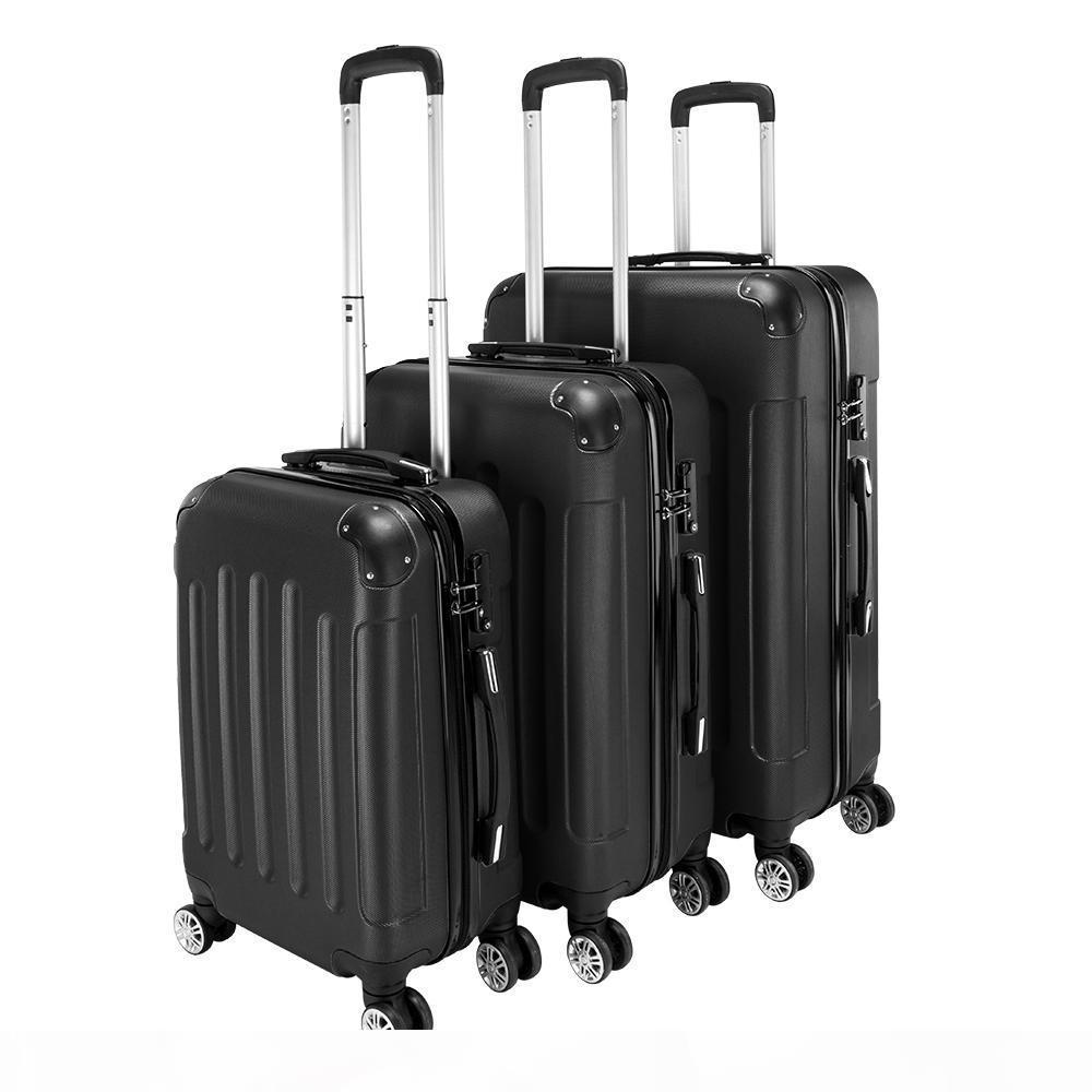 3 Piece 20'' 24'' 28'' Portable Stylish Suitcases Universal wheel travel password box boardingbox
