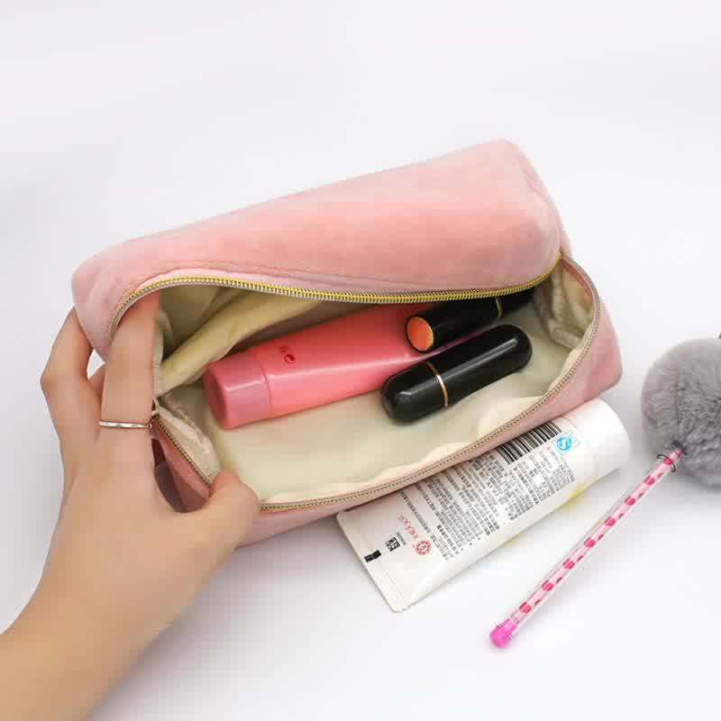 Plush Pink Makeup Lady Travel Wash Storage Bag Storage Bag
