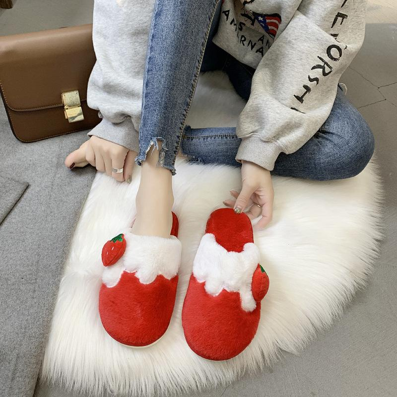 2019 New cotton slippers winter home warm indoor moon slippers women's non-slip warm thick-soled slippers