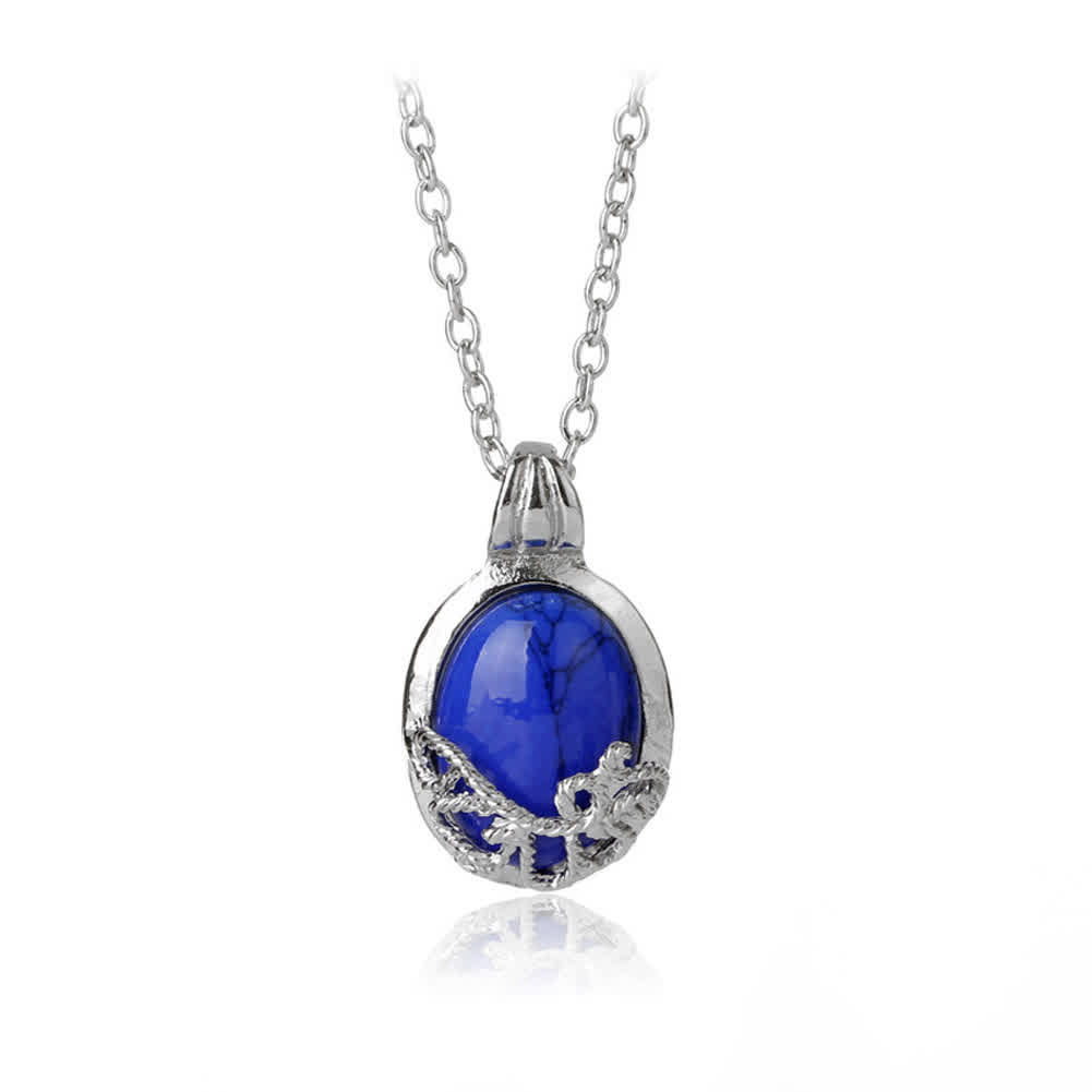 Women Vampire Diaries Necklace Natural Stone Alloy...