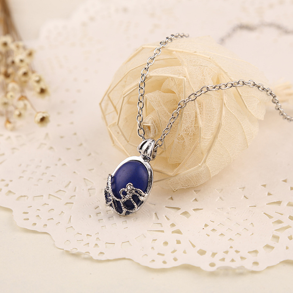 Women Vampire Diaries Necklace Natural Stone Alloy Jewelry