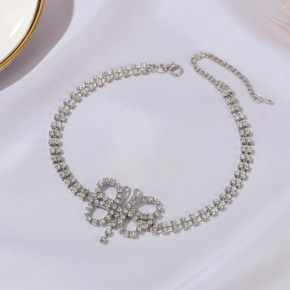 Women's Necklace Alloy Full Diamond-mounted Short Choker Necklace
