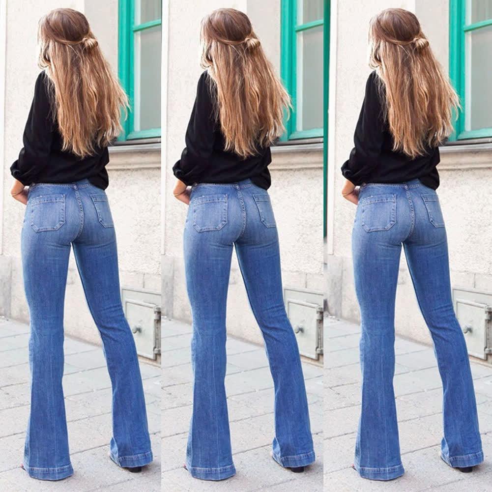 Women High Waist Slim Fit Denim Pants