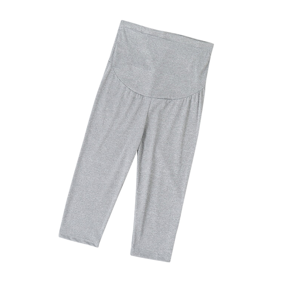 Cotton Abdomen Support Leggings Cropped Trousers for