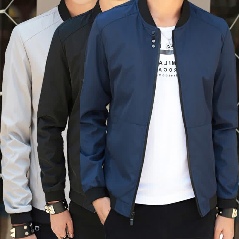 Men Simple Casual Baseball Jacket