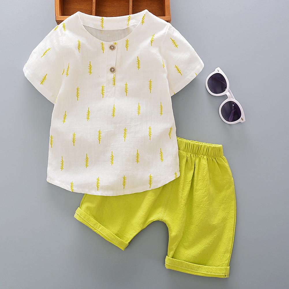 Boys T-Shirt Top+Short Pant Suit Clothes